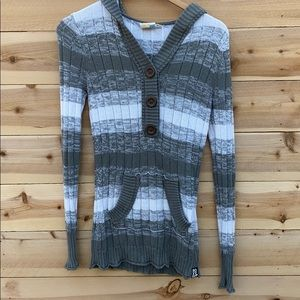 Roxy Knit Sweater with Hoodie